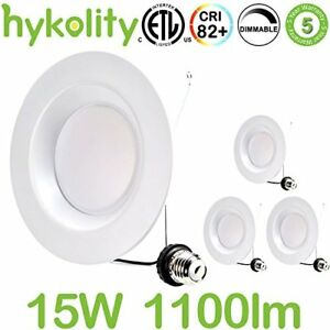 Hykolity 5 6 Inch Led Downlight Recessed Can Light Integrated Baffle Trim Design