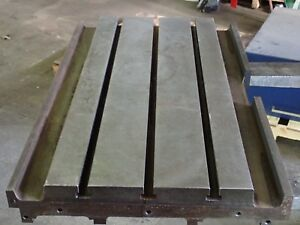 35 25 X 22 X 3 Steel Weld T slot Table Cast Iron Layout 3 Slot Jig
