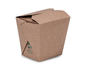 New Brown Kraft Chinese Take Out Containers 16oz 3 5 x2 7 8x3 5 Free Ship