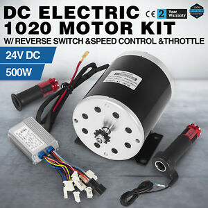 500 W 24 V Dc Electric Kart Motor Kit W Base speed Control foot Throttle