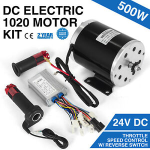 500 W 24 V Dc Electric 1020 Motor Kit W Base Speed Control Throttle F Scooter