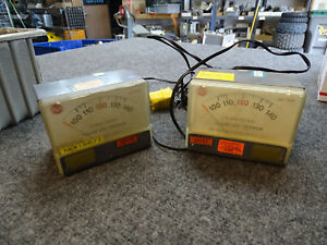 Lot Of 2 Vintage Rca Power Line Monitor Voltage Meter Wv 120a Tester