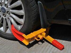 Portable Clamp Boot Tire Claw Trailer Truck Anti Theft Towing Auto Wheel Lock