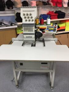Brother Bas 416 Commercial Embroidery Machine Industrial Quality W Cap Driver