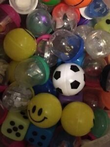 100 1 Toy Filled Vending Capsules Bulk Premium Mix With 1 Bouncy Balls