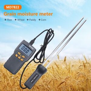 Digital Lcd Grain Moisture Temperature Meter Tester Wheat Rice Corn Gauge Lot Rm