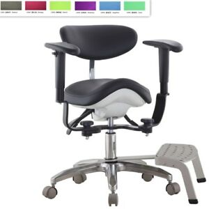 Microscope Dynamic Stool Saddle Stool Medical Seat Dentist Chair With Foot Base