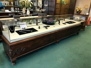 2 Large Antique Store Display Cases