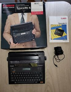 Canon Typestar 4 Portable Electric Typewriter W Box Manual Tested Works Great