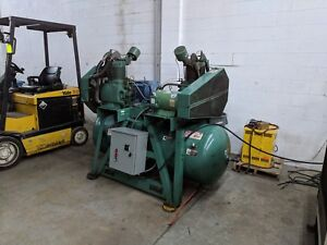 Champion Hpl15 d 25 30 Hp Horizontal Tank Duplex Air Compressor Video