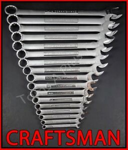 Craftsman Hand Tools 36pc 12pt Lot Sae Metric Combination Wrench Set Large Set