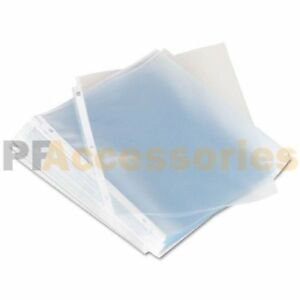 Pack Of 20 Economy Weight Clear Poly Sheet Page Protectors Non stick 8 5 X 11