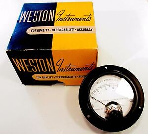 New Old Stock c 1934 Weston Instruments Model 301 Type 5 Dc Volt Meter