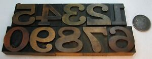 10 2 Vintage Letterpress Wood Type Numbers 0 9 Great Beautiful Old Type