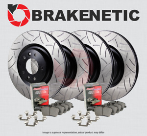 F R Brakenetic Premium Gt Slot Brake Rotors Posi Quiet Ceramic Pads Bpk94633
