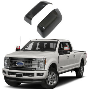 Mirror Covers For 2017 2018 Ford F 250 F 350 F 450 F 550 Super Duty Gloss Black