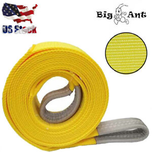 Big Ant Tow03 Nylon Recovery Heavy Duty Tow Strap 3 Inch X 20 Feet Yellow