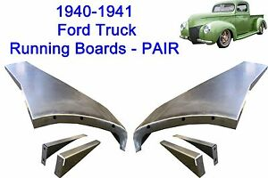 1940 1941 Ford Pickup Truck 1 2 Ton Steel Running Board Set 40 41 Made In Usa