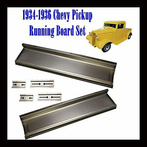 1934 1935 1936 Chevy Pickup Truck 1 2 Ton And Panel Delivery Running Boards Pair