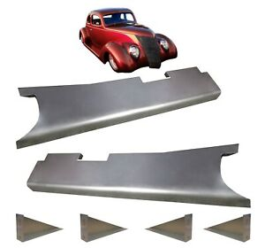1937 1938 1939 Ford Car Steel Running Board Set New Pair Made In Usa