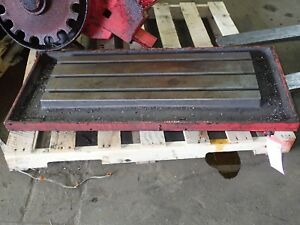 45 5 X 19 75 X 2 5 Steel Weld T slot Table Cast Iron Layout 3 Slot Jig