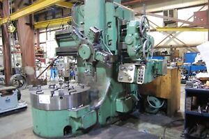 48 Webster Bennett Vtl Elevating Rail Vertical Boring Mill 1970