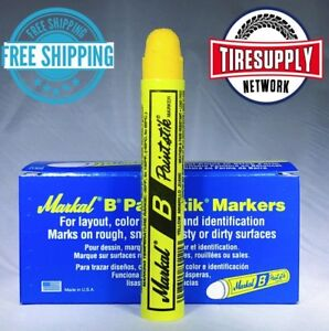 Yellow Markal Tyre Marque Crayon Box Of 12 Tire Marker Paint Paintstik 80221