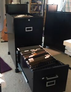 24 1 2 Deep 2 drawer Metal File Cabinet On Wheels Top Access To Top Drawer