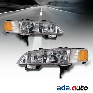 For 1994 1995 1996 1997 Honda Accord Left Right Side Headlights Lamps Pair