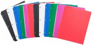 Comix Plastic 3 Hole Punched 2 Pocket Folders Letter Size Pack Of 24 To