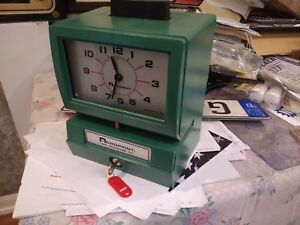 Acroprint Heavy Duty Manual Time Clock Recorder 125nr4 With Key