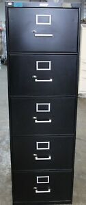 Corcraft Vertical File Filing Cabinet File Storage 5 Drawer Fair Condition