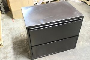 2 drawer Lateral Filing Steel Cabinet Black Fair Condition