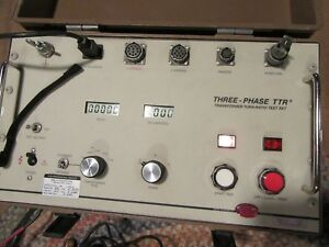 Biddle 550100 3 phase Ttr Transformer Turn ratio Test Set With Cable Avo Megger