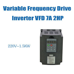 Updated 2hp 7a Vsd Vfd 1 5kw 220v Variable Frequency Drive Inverter