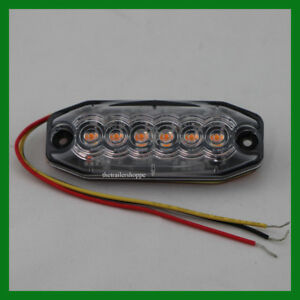 Maxxima M20388ycl Amber Clear Lens 6 Led Strobe Warning Surface Mount