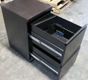 Herman Miller Meridian 2 drawer Filing Steel Cabinet Black Good Cond