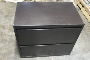 Herman Miller Meridian 2 drawer Lateral Filing Steel Cabinet Black Good Cond