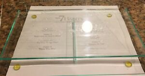 franklin Covey Acrylic Planner Holder Etched With the 7 Habits Compact