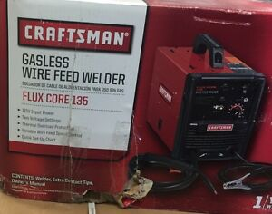 L1 Htf Craftsman Gasless Wire Feed Welder 51264 Flux Core 135 Rough Box