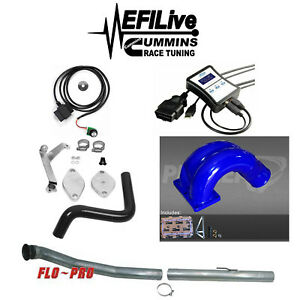 Efi Live Tuner 07 09 Dodge Ram 6 7l For Cummins Dpf Egr Delete Kit Pusher Intake