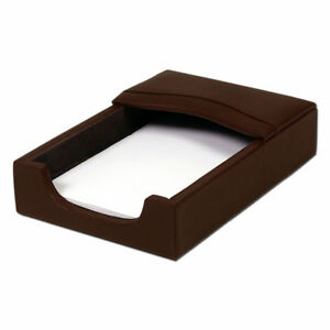 Dacasso 1000 Series Classic Leather 4 X 6 Memo Holder In Chocolate Brown