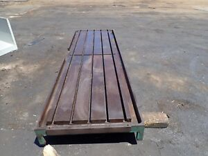 115 X 36 5 X 8 25 Steel Weld T slot Table Cast Iron Layout 5 Slot Jig