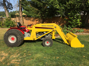 1971 Massey Ferguson 135 Orchard Model Tractor W Massey 100 Front Loader