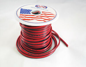 18 Awg 100 Jsc Red black Stranded Copper Zip Wire Cable Cord Power Gauge Ga