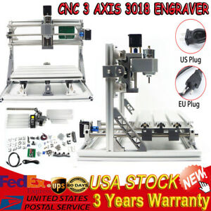 Mini Cnc 3 Axis 3018 Router Milling Wood Engraving Machine Printer Grbl Control