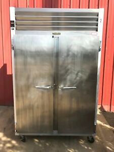 Traulsen G20010ts Two Section Solid Door Reach in Refrigerator 46 Cu Ft