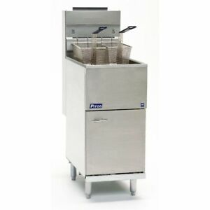 Pitco Frialator 45c s nat Economy 50 Lb Tube Fired Natural Gas Fryer