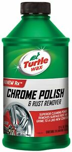 Turtle Wax T 280ra Chrome Polish Rust Remover 12 Oz