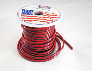 16 18 Awg Jsc Red black Stranded Copper Zip Wire Cable Cord 50 100 Feet Ga